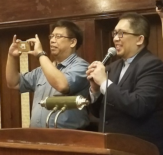 PIDCI President Antero 'Ner' Martinez (right) and Vice President Rely Manacay
