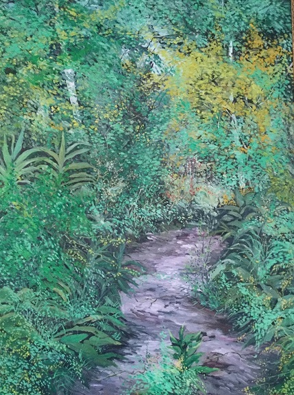 'Path to the Woods' Oil on Canvas 36 X 48 inches Sweden, 1984