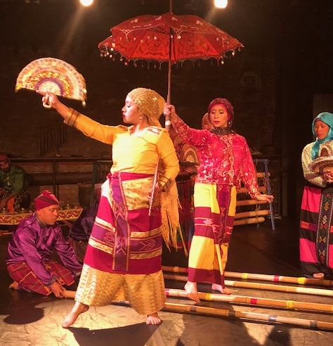 The very popular Maranao dance Singkil is performed to rhythmic clacking of bamboo poles.