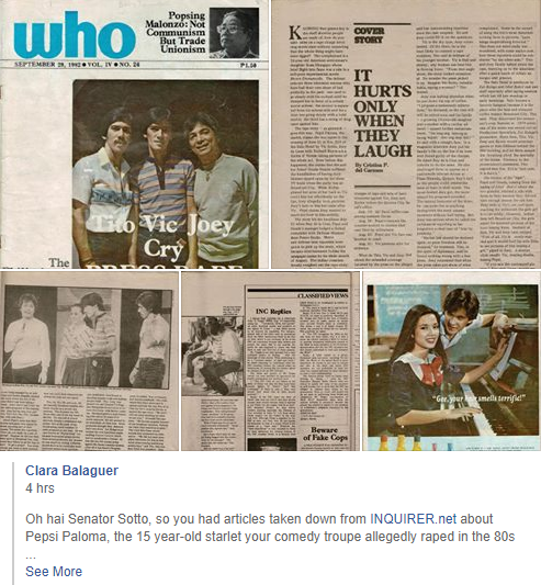 Pages from the WHO Magazine article of 1982 pop up on Facebook.