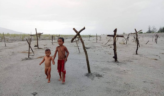 Kulas and Bola are the young boys who survive the village massacre in 'Balangiga,' a film set in 1901 at the beginning of the American occupation of the Philippines.