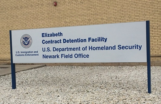 A detention facility in Elizabeth, Jersey. At the time of the interview, there was only one undocumented Filipino immigrant behind bars.