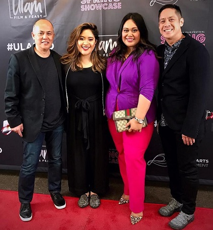 At the San Diego Asian American Film Festival, from left: Producer Rey Cuerdo, Director Alexandra Cuerdo, Jeepney and Maharlika owner Nicole Ponseca, Cinematographer and Producer John Floresca.