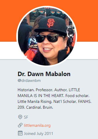 Dawn's Twitter page