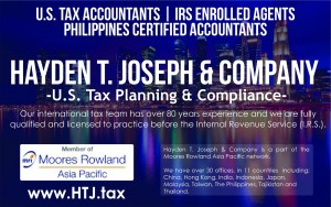International tax accountants licensed to practice in the Philippines