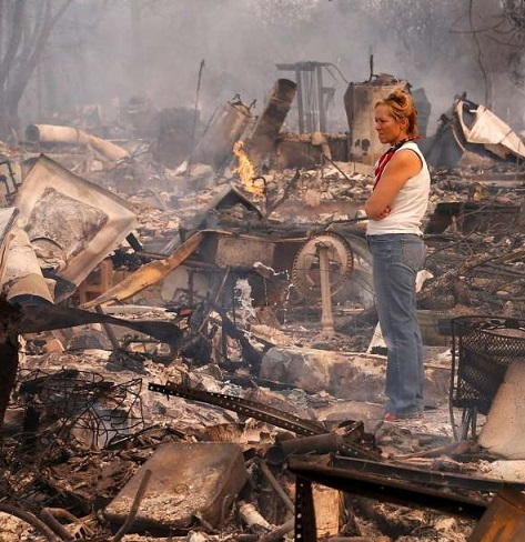 Where to begin: Picking up the pieces after homes and properties go up in flames.