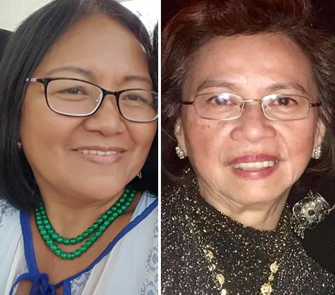 Petitioners Nieva Burdick of the Philippine Community Center Services for Aging  (left) and Juliet Payabyab  of United Mindoro International, Inc.