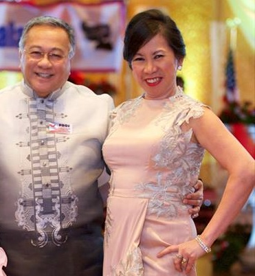 Former PIDCI President Prospero Lim with his treasurer Violeta McGough who resigned for health reasons.  Photo by Boyet Loverita