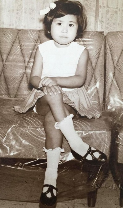 The author at 5 years old in her Marilao, Bulacan home