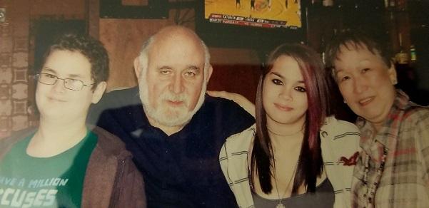 With grandchildren Cheyenne and Sebastian Clites
