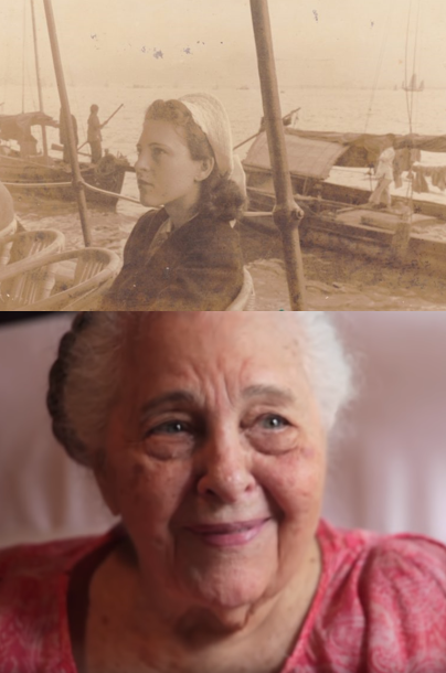 Top photo, Jessie Lichauco in the 1930s; today at 106 years old.