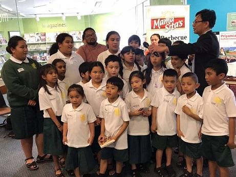 Filipino-Kiwi school children from St. Patrick's Catholic School.