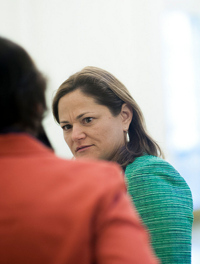 Candidate Melissa Mark-Viverito says she will advocate for improvements in the subway system and public housing. Photo by William Alatriste for the New York City Council