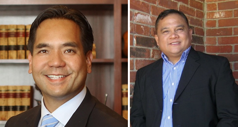 Utah Attorney General Sean Reyes (left), Pastor Herman Martir