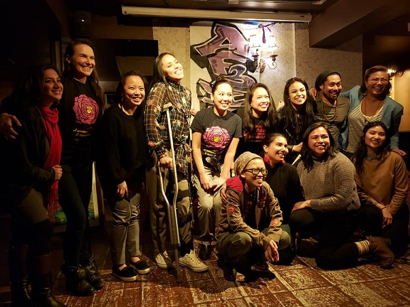 Nikki with friends who showed support for her fundraiser.